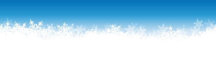 Eisblumen, Schneeflocken, Panorama, Banner, Webdesign
