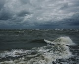 Stormy sky over a sea