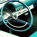Fototapety Retro car interior