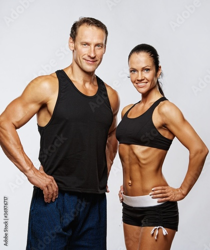 Beautiful athletic couple.