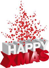 Happy Xmas rosso e bianco