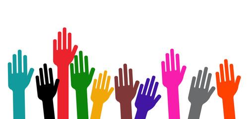 Communauté - Mains en l'air - Vote à main levée
