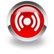 white radio beam icon