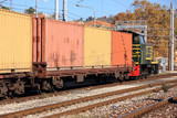 containers and train