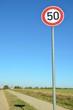 Straßenschild ''50''