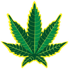 Leaf of marihuana