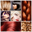 canvas print picture - Hair Collage. Hairstyles