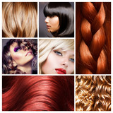 Fototapety Hair Collage. Hairstyles