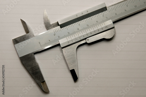 Vernier on white background
