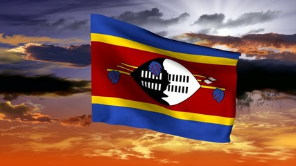 Flag of the Kingdom of Swaziland (Ngwana)