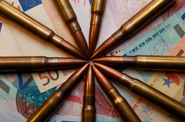 Criminal activities, bullets and money