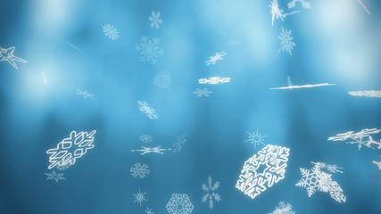 Snowfall backgrounds - loopable cg 3d animation