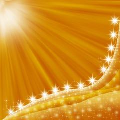 金色と光の背景