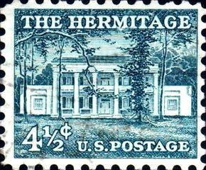The Hermitage, home of Andrew Jackson. US Stamp.