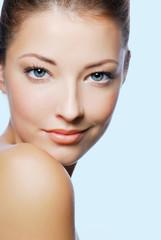 Beautiful face of wellness woman