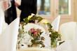Hochzeitstisch auf einer Hochzeitsfeier