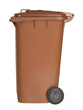 brown waste container