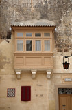 balconies and windows in Malta, an ancient city