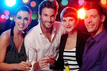 Happy companionship in discotheque