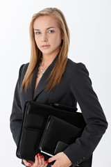 Businesswoman with accessories
