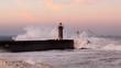 Fototapeten,leuchtturm,morgengrauen,welle,ozean