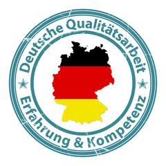 deutsche qualitätsarbeit erfahrung kompetenz stempel
