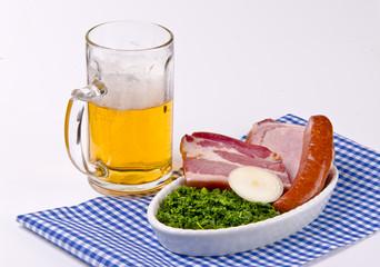 Grünkohl mit Bier