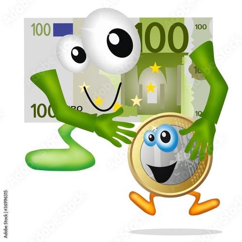 euro in lenta crescita