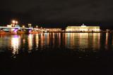 Night view of Neva river in St Petersburg poster