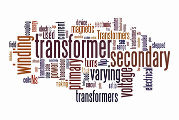 electrical transformer word clouds