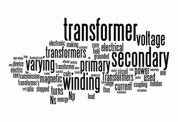 power transformer text clouds