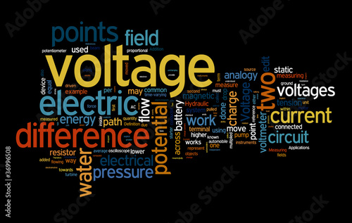 voltage text clouds