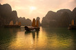 Leinwanddruck Bild - Halong Bay, Vietnam. Unesco World Heritage Site.