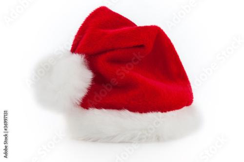 Leinwandbild Motiv Nikolausmütze freigestellt