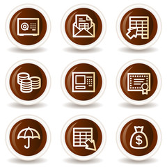 Banking  web icons, chocolate  buttons