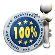 100% Qualität - Button 02