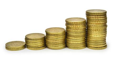Ten euro cents bar graph