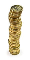 Ten euro cents tower