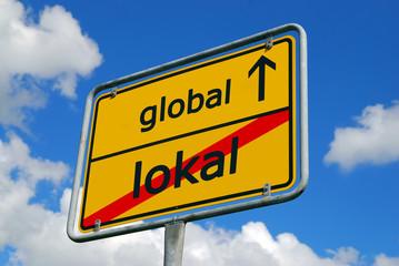 Globalisierung - Schild