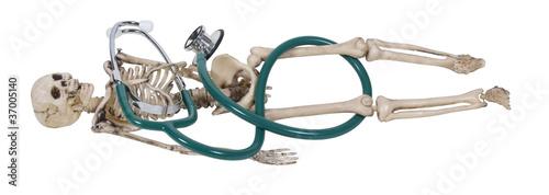 Skeleton and Stethoscope