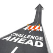 Challenge Ahead Hole in Road Construction Danger Warning