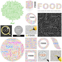 FOOD concept illustration. GREAT COLLECTION.