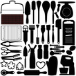A silhouettes vector collection of Cooking, Baking Tools