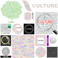 CULTURE concept illustration. GREAT COLLECTION.