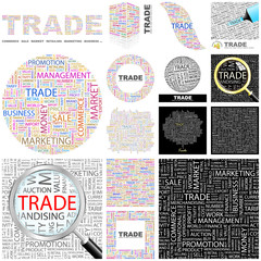 TRADE concept illustration. GREAT COLLECTION.