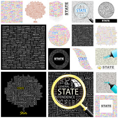 STATE. Concept illustration. GREAT COLLECTION.