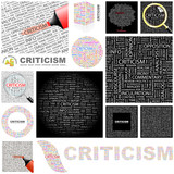 CRITICISM. Concept illustration. GREAT COLLECTION. poster