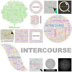 INTERCOURSE. Concept illustration. GREAT COLLECTION.