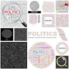 POLITICS. Concept illustration. GREAT COLLECTION.