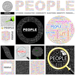 PEOPLE. Concept illustration. GREAT COLLECTION.